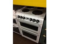 White stoves 55cm electric cooker grill & fan oven good condition with guarantee
