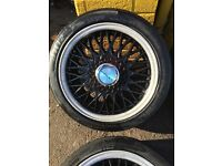 BBS 15 inch wheels and tyres