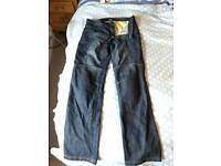 Kevlar jeans 36 inch waist for motorcycles