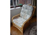 Cane conservatory armchair