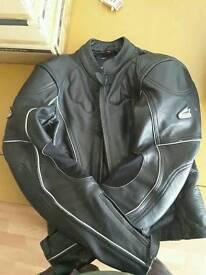 Ladies motorcycle jacket and gloves