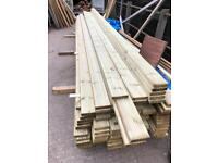 Treated Timber Decking 28mm x 125mm x 4.8m & 4.2m , loads of stock available 4.8m £9.25, 4.2m £8.25