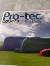 Blue Pro-tec easy-fit caravan cover