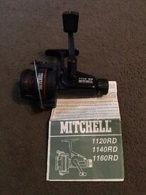 VINTAGE MITCHELL 1140 RD FIXED SPOOL FISHING REEL, WITH INSTRUCTIONS
