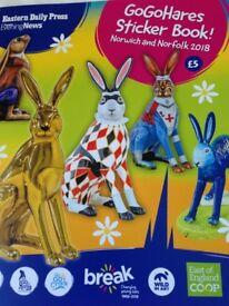 Go go hares stickers