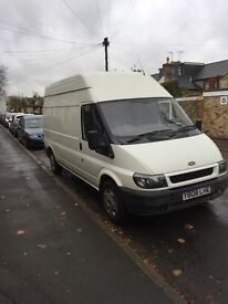 White ford transit lwb high top 2.4 Rwd van for sale, 146k, 5 months mot