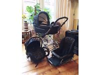 BabyStyle Prestige 3 in 1 Travel System - Pram, Buggy and Car Seat