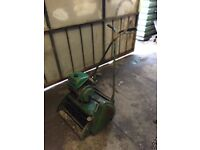 "Ransomes 18"" Auto Certes Petrol 4 stroke lawn mower 1930s collecters. runs well"