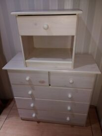 Chest Drawers + Bedside Table - SOLID WOOD