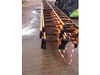Aluminium , steel 8m pole ladders , scaffolding , building etc