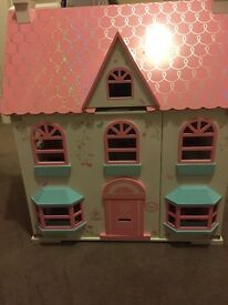 Rosebud Dolls House with all the furniture and people