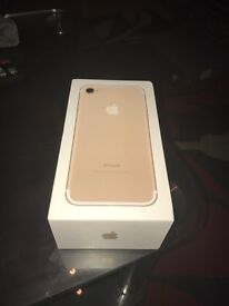 Apple iPhone 7 gold brand new 32g for sale £550 o.n.o