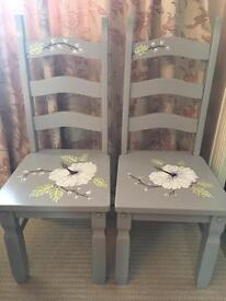 2 Beautiful Hand Painted chairs