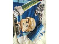 Star Wars single duvet cover and pillow