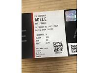 Adele tickets sat 1st July