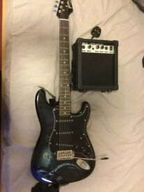 Jaxville Hades Electric Guitar and Amp / Almost brand new with all original accessories