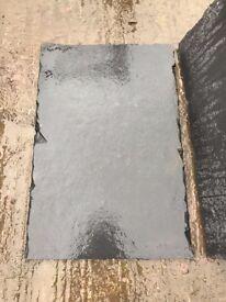 Natural black slate hearth stone