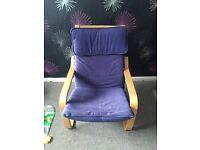 IKEA armchair with footstool
