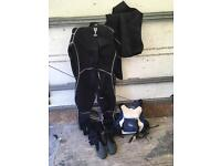 Wet suit and bag