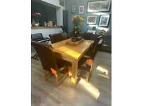 Oak furnitureland dining table and 6 chairs