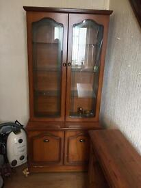 Glass Wooden Cabinet and Cupboard