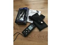 **Excellent Working Conditon Olympus DM-670 Voice Recorder Dictaphone & New Compact Zoom Microphone