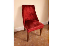 Stylish Laura Ashley Chair in Cranberry Colour crushed velvet material