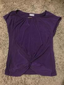 Wallis purple top Size 18