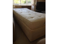 Sealy Solitaire Posturepedic Single Mattress And Bed Base With Drawers - Free Delivery