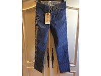 Girls fat face blue trousers age 10-11 new