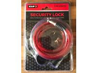 Brandnew bike cable lock with 2 keys. 1.2 m only £7