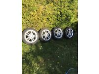 Corsa sxi 2008 x4 alloys with 195/55/16 tyres 07594145438, used for sale  Luton, Bedfordshire