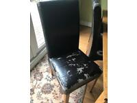 6x Leather Dining chairs