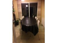 Free dinning table and chair.