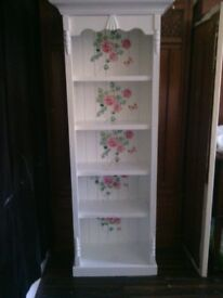 SHABBY CHIC SHELVING CABINET.