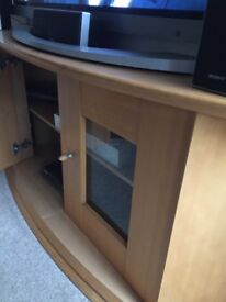 Light wooden tv and sky etc cabinet