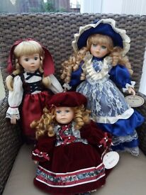3 Collectible Dolls