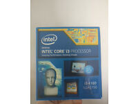 i3 4160 Intel processor for sale, used with box and stock cooler