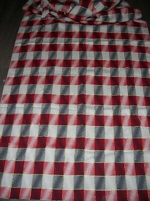 Vintage 40s 50s jacquard weave upholstery fabric length  194