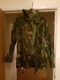 Camoflage rain jacket