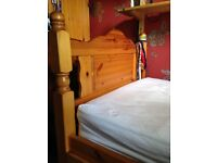 Bunk beds with detachable ladder, solid pine. Very good quality.