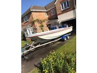 Dory 17 feet 115hp Fourstroke outboard boat engine and trailer