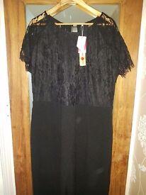 Black/lace size 20 jumpsuit bntw