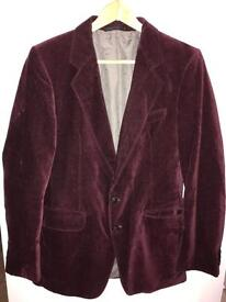 Red velvet jacket, smoking jacket