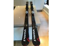 Volkl Skis + Motion Bindings - Super High Quality, wood core technology - 168cm
