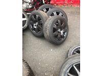 Golf alloys 16s mk5 4 good tyres £100 ono