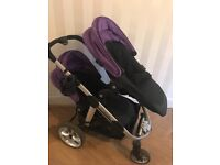 iCandy Apple 2 Pear double buggy with newborn nest and 1 cosy toes