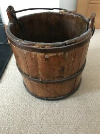 Antique Bucket Bin