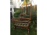 French cherry wood antique rocking Cradle