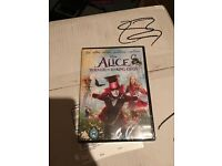 Alice Through the Looking glass Disney dvd still in wrapper
